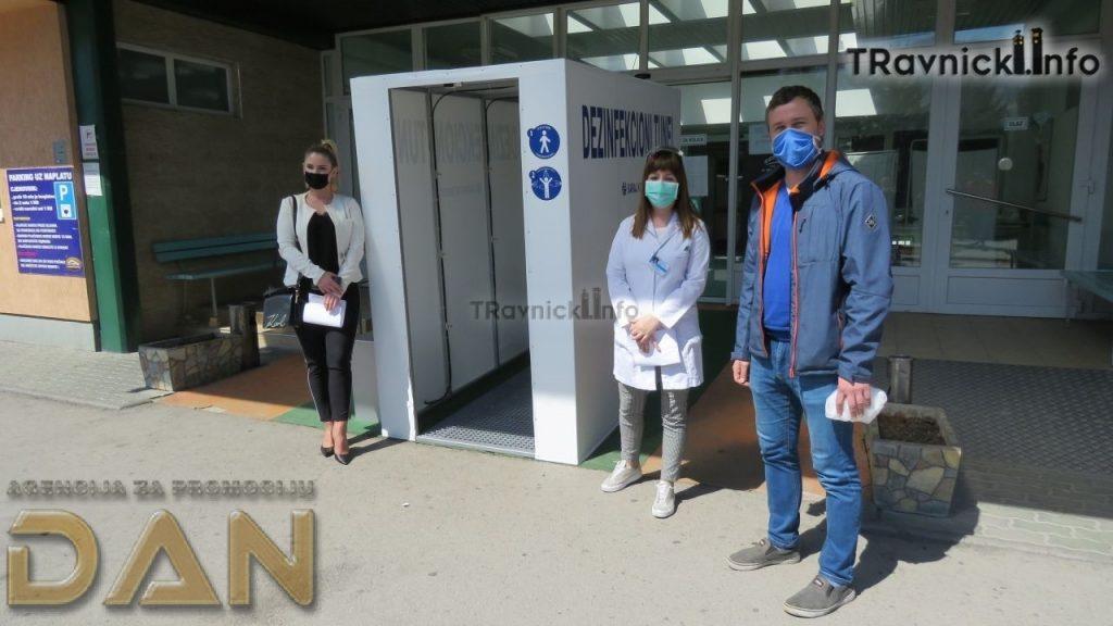 Saraj Komerc nam je donirao dezinfekcioni tunel